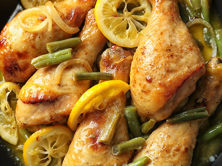 Lemon Garlic Green Beans with Chicken